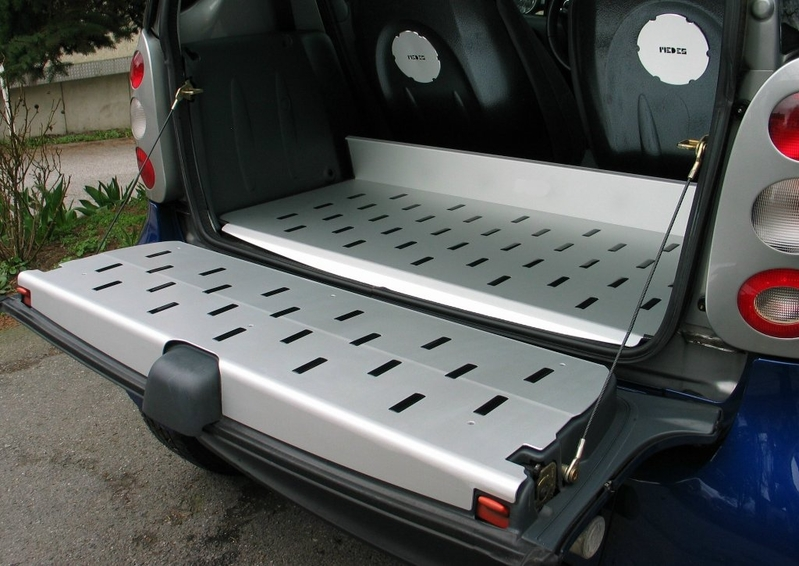 smart 450 cabrio alu ladefl che und heckklappe stripes. Black Bedroom Furniture Sets. Home Design Ideas