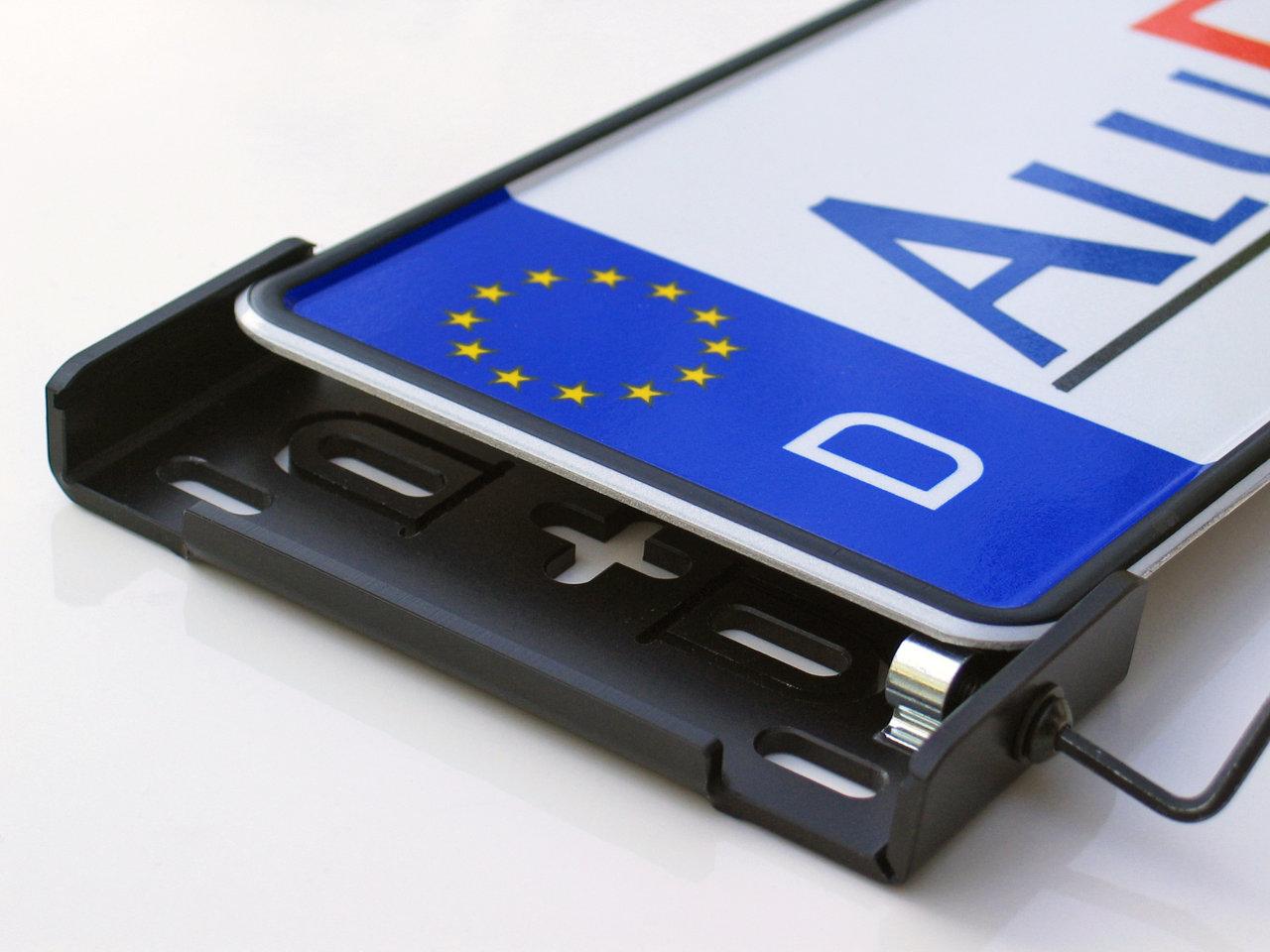 AluFixx Car Premium schwarzmatt eloxiert Nummernschildhalter ...
