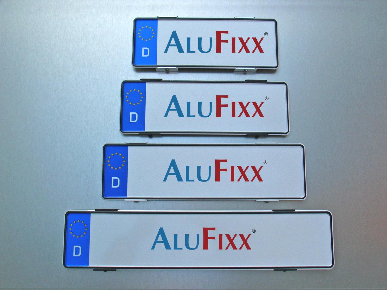 2 x AluFixx Car Premium AT schwarz matt Kennzeichenhalter PKW ...