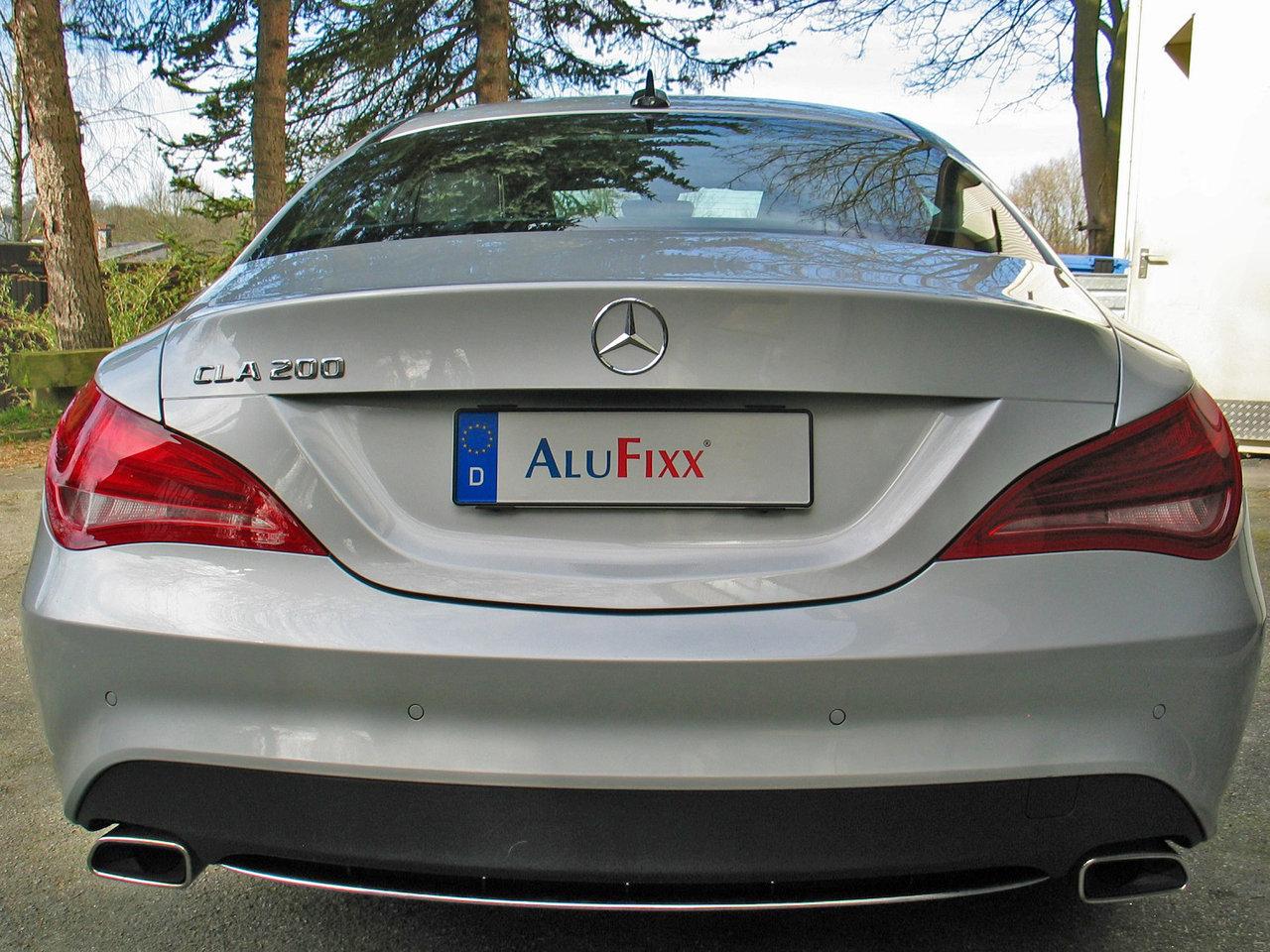 AluFixx Car MB Set schwarz matt eloxiert Nummernschildhalter ...